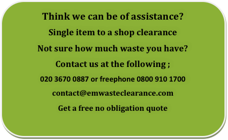 Commercial Waste clearance London, Essex and Kent