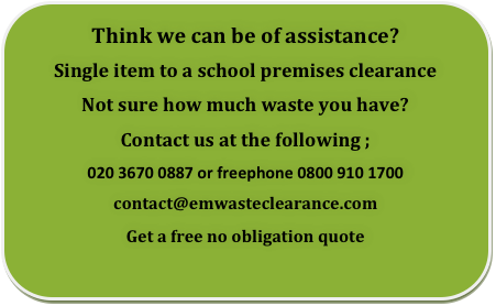 school clearance London, Essex and Kent